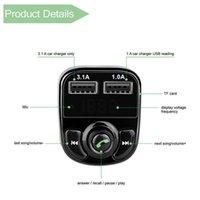 X8 FM 송신기 AUX 모듈레이터 블루투스 핸즈프리 자동차 키트 자동차 오디오 MP3 플레이어 3.1A 빠른 충전 듀얼 USB 자동차 충전기 ACC