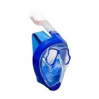 Máscara de snorkel a seco total Máscara mudoable Myopia Óculos Full Face Design Subaquático Anti Nevoeiro Máscara De Mergulho Impede engasgos