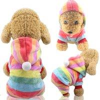 الكلب الملابس الصحيفة الملابس مقنعين 4 أقدام رشاقته معطف الصوف الدافئ ل الخريف الشتاء