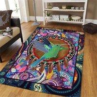 Carpets Colorful Hummingbird Rug 3D All Over Printed Carpet Mat For Living Room Doormat Flannel Print Bedroom Non-slip Floor 01