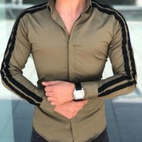 Men's Dress Shirts Men Arrival Luxury Stylish Slim Fit Long Sleeve Male Business Formal Tops For