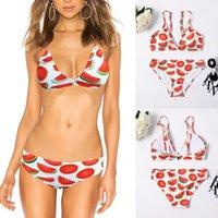 Women's Swimwear Bikini 2021 Push-up Retro Print Two-piece Swimsuit Beach Bathing Suit Women Sexy Micro Designer