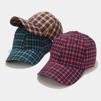 Primavera verano otoño invierno moda tela escocesa gorras de béisbol hombres mujeres streetwear hip hop cap camionero sombrero a cuadros béisbol sombreros