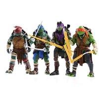 Action Toy Figures Fighes Fisico ShootingFour Modelli di Ninja Tortoise TMNT Giocattoli bambole mobili giunti nel 2014 Edizione cinematografica