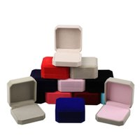 Multifunktionale feste Farbe Samt Schmuckverpackung Aufbewahrungsboxen für Anhänger Halskette Ringe Ohrring Set Display Hochzeit Geburtstagsbedarf
