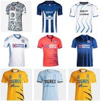 Mexique LIGA MX 2021 2022 Cruz Azul Soccer Jerseys Accueil Tigres Unam Gignac Club America Leon 21 22 Chemises de football Monterrey Chivas Pachuca Camesitas de Fuol