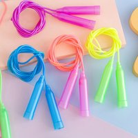 Colorful Plastic Rope Skipping Adjustable Length Children Primary School Students Soft Handle Kindergarten Small Prize 8UJY722
