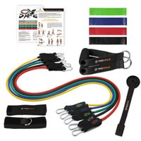 Resistance Bands 15 Pcs Expander Tubes Rubber Band Set For Stretch Training Home Gyms Workout Exercise Equipment