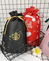 The latest 33X22CM Starbucks packaging bag, non-woven drawstring, a variety of styles to choose from, support customization