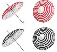 New30PCS Princesa Royal Sun guarda-chuva Senhora Pagode Fantasia Lace Sunshade Parasol Longos Longa Punho de Casamento Decoração CCA6848