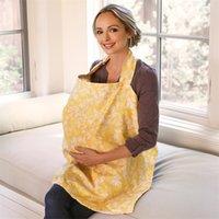 Couvre-allaitement Couverture Bébé bébé Respirant Coton Muslin Tissu d'allaitement L de grande taille Cape d'alimentation en infirmière Cape Tablier 70 * 100 1246 Y2