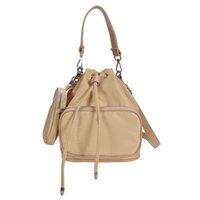 2021 SS Nylon Duet Re-Nylon Einzelner Umhängetasche Klassische Damen Rucksack Handtaschen Top Qualität Frauen Mode mit Münzbörse Kreuz Body Bags