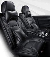 Autositz bedeckt Ins Blue Black Leder Cover für Geely Atlas Emgrand EC7 X7 Zubehör