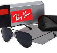 جودة عالية راي الرجال النساء النظارات الشمسية خمر الطيار aviator wayfarer العلامة التجارية الشمس نظارات الفرقة uv400 حظر مع صندوق وقضية 3025