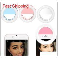 Flashes Universal Luxo Smart LED Flash Light Up Selfie Luminous Anel Telefone para Android com USB Carregando NDRQ6 IT2ry