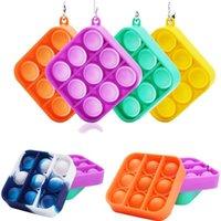 Ansiedad Estrés Alivio Burbuja Poppers Fidget Pads Tubos Pendiente Sensor Push Push Board Juego Pasta Pasta Pop Sus encantos de juguete OWB6714