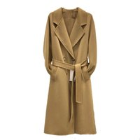 Luxury Womens Wool Designer Blended Jacket Autumn And Winter Womenss High Quality Wools Coat Double Breasted Fashionable Street Long Blendeds Evening Gowns S-L