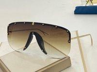 새로운 패션 작은 크기 탑 렌즈 품질 디자이너 절반 프레임 선글라스 0667S 리벳 0667 마스크 큰 인기있는 연결 고글 MPCWU