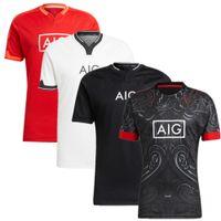 Último Estilo 2022 Maori All Black Rugby Jersey Home Away Rugby Camisa de entrenamiento de la ropa Maori Jerseys Gran tamaño 5xl