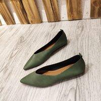 Xgravity 2021 nouveau printemps confortable dame chaussures plats pointus orteils plats plus taille femme femme chaussures confort femmes chaussures ERF555