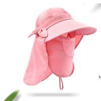 Sunshade Hut Faltbare Kappen Ultraviolett-Proof Weitrand Sommer Geschwindigkeit Trockene UV Sonnencreme Hüte Kausal Reise Camping Frauenkappe DHC7193