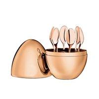 Casa com mobiliário na moda christofle colher paris humor kit de café chapeamento conjunto de chá de ovo de aço inoxidável