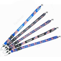 Trump Lanyards Keychain USA Flag Make America Great Again ID Badge Holder Key Ring Straps for Mobile Phone Party Favor DHF32