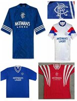 Fussball JerseyHigh Quality Glasgow Rangers RetrogascoNe Laudru 1984 87/90/92/93/94/95/99/99/99/99/95/99/99/99/99/99 / 08 Vintage classic f