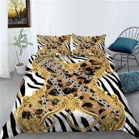 Bettwäsche Set King Size Bettbezug 2/3 Stücke Schlafzimmer Komfort Luxus Muster Design Home Textile