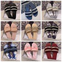 Klasikler Sandalet Moda Terlik Slaytlar Çiçek Brocade Dişli Dipleri Çevirme Kadın Ayakkabı Çizgili Plaj Nedensel Terlik Home011 23