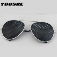 نظارات الشمس Yooske الرجعية النظارات الشمسية للنساء الرجال الصغيرة ثقوب النظارات الرؤية الرعاية للجنسين البصر المحسن