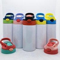 12oz sublimação tumblecas retas copos de Sippy Kids canecas Spotness aço garrafa de bebê bebendo tumbler parede dupla vácuo xícara zza3051