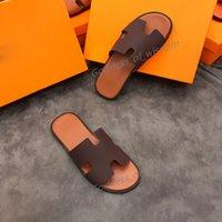 디자이너 남성용 반 슬리퍼 정품 가죽 유럽 소 가죽 스타일 샌들 남성 신발 로퍼 큰 크기 슬리퍼