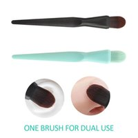 Makeup Brushes Foundation Brush 2 In 1 Soft Liquid Cosmetic Cream Applicator Beauty Make Up Eye Shadow Tools