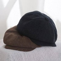 Nuovo cappello per bambini per ragazzi vintage newsboy bambini cappuccio bambino ragazzi cappello autunno inverno berretto bambino per bambini bambini cappelli 52/54 1875 Z2