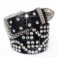 70% Off Factory Online sale Diamond belt women's diamond water inlaid versatile white decoration pin buckle jeans wide