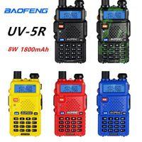 2 шт. Baofeng UV-5R Walkie Talkie 8W Высокая мощность Walkie Портативная ветчина CB RADO UV 5R Двойной BD FM Приемопередатчик UV5R Двухсторонний Radio1