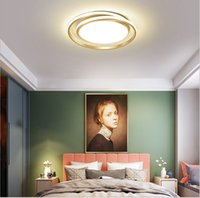 Modern Led Ceiling Lamp Chandelier Remote Control For Bedroom Living Room Kitchen Study Simple Indoor Gold Round Light Fixture