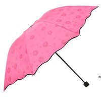 3-مطوية الغبار المضادة للأشعة فوق البنفسجية مظلات ظلة مظلة ماجيك زهرة قبة الشمس المحمولة DHD5983