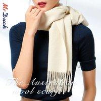 Bufandas Calidad de mercado Soft Waxy Skin Friendly Pure Color Color Lana Bufanda Hombre Dual Propósito Hombres y mujeres 36 * 210 Tamaño