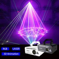 300mw 풀 컬러 애니메이션 레이저 조명 스트립 스테이지 3D KTV 개인 방 콘서트 디스코 파티 클럽 웨딩 DJ