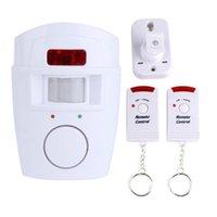 Systèmes d'alarme sans fil PIR Capteur de mouvement infrarouge DÉTECTEUR 2PCS Contrôleurs à distance Fenêtre de porte Sécurité domestique anti-vol