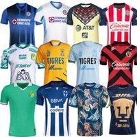 Liga MX 2021 2022 Tigres Unam Gignac Club America Soccer Jerseys Tijuana Leon Cruz Azul 21 22 Chemises de football de Monterrey Giovani 115e Chivas Jersey Uniforms