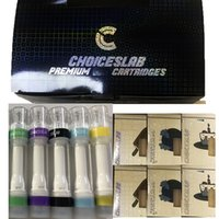 Cartuchos de Vape de Choicelab 0.8ml 1gram Cerâmica Cerâmica Completo Cigarros Cigarros Vazio Vaporizador Pen 510 Escolhas de Thread Snap on Tip Atomizers Embalagem