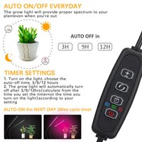 Cree Lead Grow Lights for Indoor Plants Full Spectrum Growing Lamps with Timer Dual Head 40W Succulent Clip Growlight 3 Switch Modes 9 Dimmable Brightness