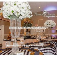 Party Decoration Tall Crystal Wedding Flower Vase Stand T-stage Aisle Road Lead Event Table Centerpieces Yuson0047