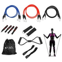 Resistance Bands 16Pcs Latex Set Gym Equipment Fitness Yoga Pull Rope Strength Training Elastic Exercise Expander