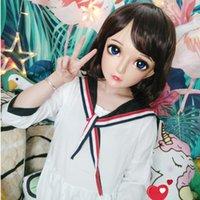 Festa máscaras (zhi-3) feminino menina doce resina meia cabeça kigurumi máscara com olhos bjd cosplay japonês anime papel lolita crossdress boneca