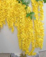 جديد الزهور الاصطناعية الطويلة الوستارية الروطان الروطان الحرير الزفاف زهرة الديكور حديقة المنزل الديكور