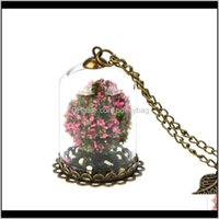 Chains Necklaces & Pendants Jewelrywomen Cute Tree Bottle Chain Pendant Necklace Xmas Gifts Drop Delivery 2021 Ww0Ro